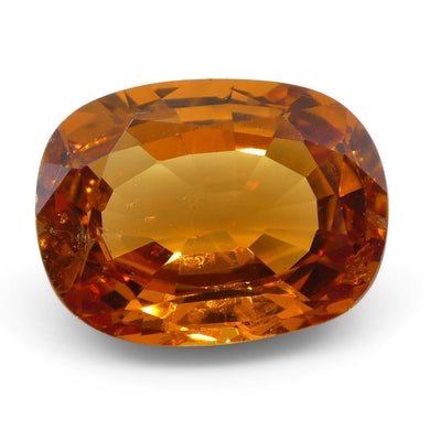 Vivid Fanta Spessartite Garnet 2.68 cts 9.34x7.16x3.96mm Cushion Orange  $760