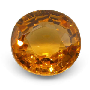 2.13 ct Oval Vivid Fanta Orange Spessartite/Spessartine Garnet - Skyjems Wholesale Gemstones