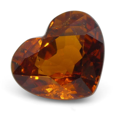Vivid Fanta Spessartite Garnet 1.31 cts 7.05x5.90x3.84mm Heart Shape Orange  $370