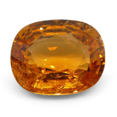 3.42 ct Cushion Vivid Fanta Orange Spessartite/Spessartine Garnet - Skyjems Wholesale Gemstones