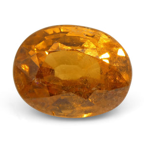 Vivid Fanta Spessartite Garnet 2.93 cts 8.44x6.64x5.48mm Oval Orange  $880