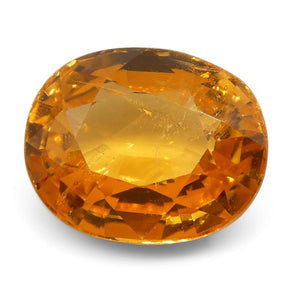 Vivid Fanta Spessartite Garnet 2.55 cts 8.28x6.71x4.44mm Oval Orange  $770