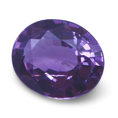 Spinel 1.27 cts 7.49x6.25x3.54mm Oval Slightly Purplish Pink  $150