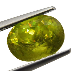 2.09 ct Oval Sphene (Titanite)