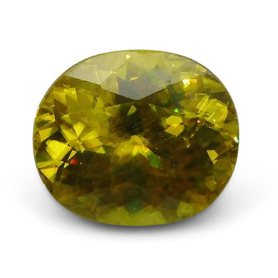 2.54 ct Oval Sphene (Titanite) CGL-GRS Certified - Skyjems Wholesale Gemstones
