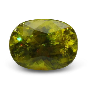 2.55 ct Oval Sphene (Titanite) CGL-GRS Certified - Skyjems Wholesale Gemstones