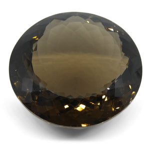 Smoky Quartz 212.64cts 40.51x40.36x20.65mm Round Brown $170
