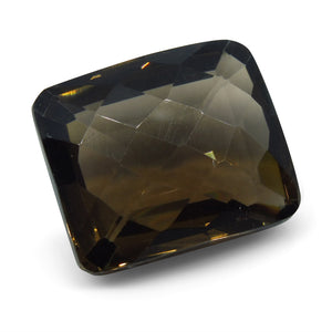 30.71ct Smokey Quartz Rectangle Checkerboard - Skyjems Wholesale Gemstones