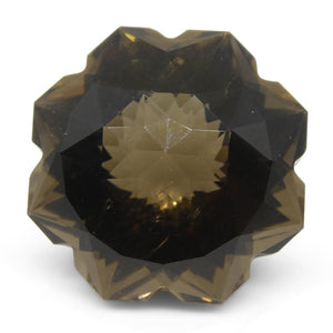 12.27ct Flower Smoky Quartz Fantasy/Fancy Cut - Skyjems Wholesale Gemstones