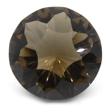 8.7ct Round Smoky Quartz Fantasy/Fancy Cut - Skyjems Wholesale Gemstones