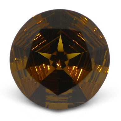 7.52ct Round Smoky Quartz Fantasy/Fancy Cut - Skyjems Wholesale Gemstones