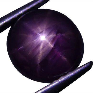 Star Ruby 3.07 cts 8.15x7.67x4.84mm Oval Cabochon Red  $300