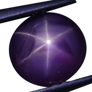 Star Ruby 1.8 cts 6.89x6.32x3.83mm Oval Cabochon Red  $300