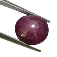 7.83 ct Oval Star Ruby
