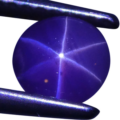 Star Sapphire 1.23 cts 5.70x5.67x4.06mm Round Cabochon Purple  $300