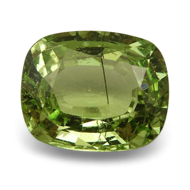 Tsavorite Garnet 2.44 cts 8.85x7.27x4.17mm Cushion Slightly Yellowish Green  $440