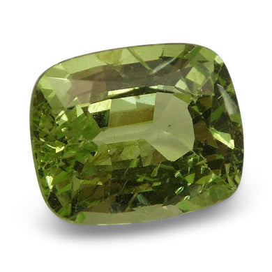 2.78ct Cushion Kiwi Green Grossular Garnet