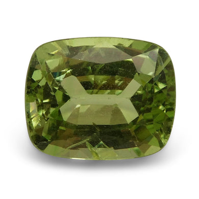 2.78 ct Cushion Green Grossularite / Tsavorite Garnet
