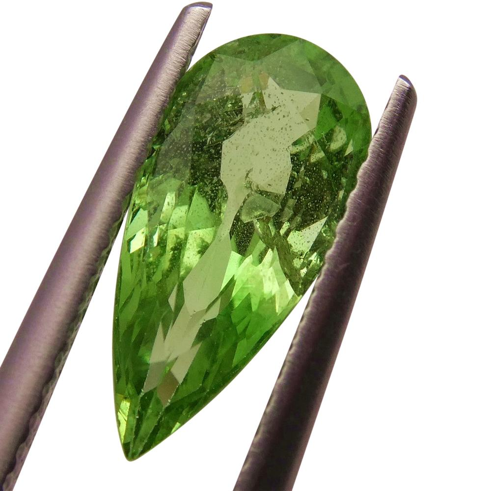 2.55ct Pear Apple Green Grossular Garnet