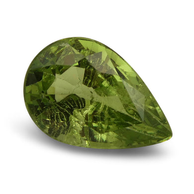3.84 ct Pear Green Grossularite / Tsavorite Garnet - Skyjems Wholesale Gemstones