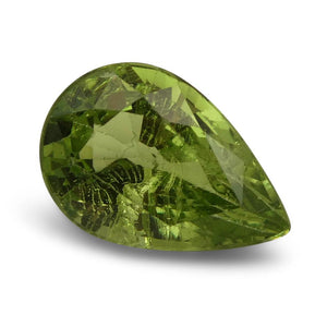 3.84ct Pear Kiwi Green Grossular Garnet