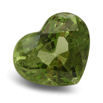 2.93ct Heart Kiwi Green Grossular Garnet - Skyjems Wholesale Gemstones