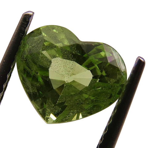 2.93ct Heart Kiwi Green Grossular Garnet