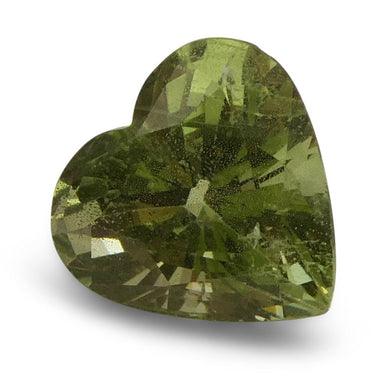 3.53ct Heart Kiwi Green Grossular Garnet - Skyjems Wholesale Gemstones