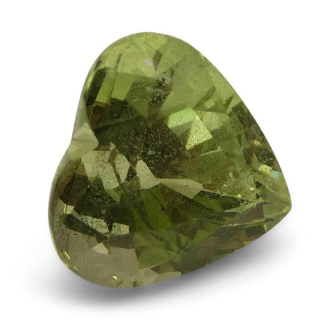 3.53ct Heart Kiwi Green Grossular Garnet
