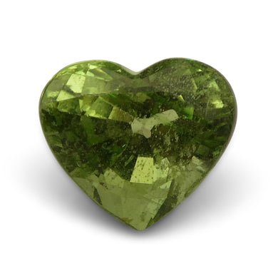 Tsavorite Garnet 3.05 cts 7.77x8.98x6.25mm Heart Slightly Yellowish Green  $550