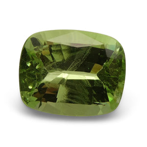 Tsavorite Garnet 2.62 cts 9.06x7.31x4.47mm Cushion Slightly Yellowish Green  $470
