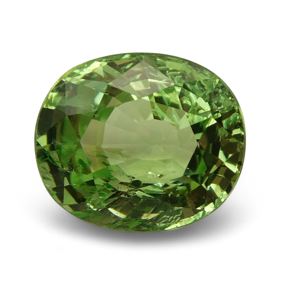 2.57ct Oval Apple Green Grossular Garnet