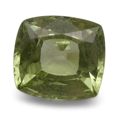 3.36 ct Cushion Green Grossularite / Tsavorite Garnet - Skyjems Wholesale Gemstones