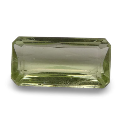 Tsavorite Garnet 2.1 cts 10.29x5.26x3.31mm Baguette Slightly Yellowish Green  $380