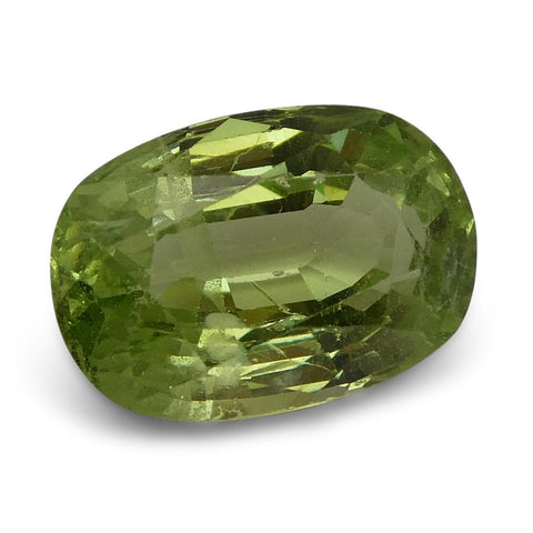 3.40ct Oval Kiwi Green Grossular Garnet
