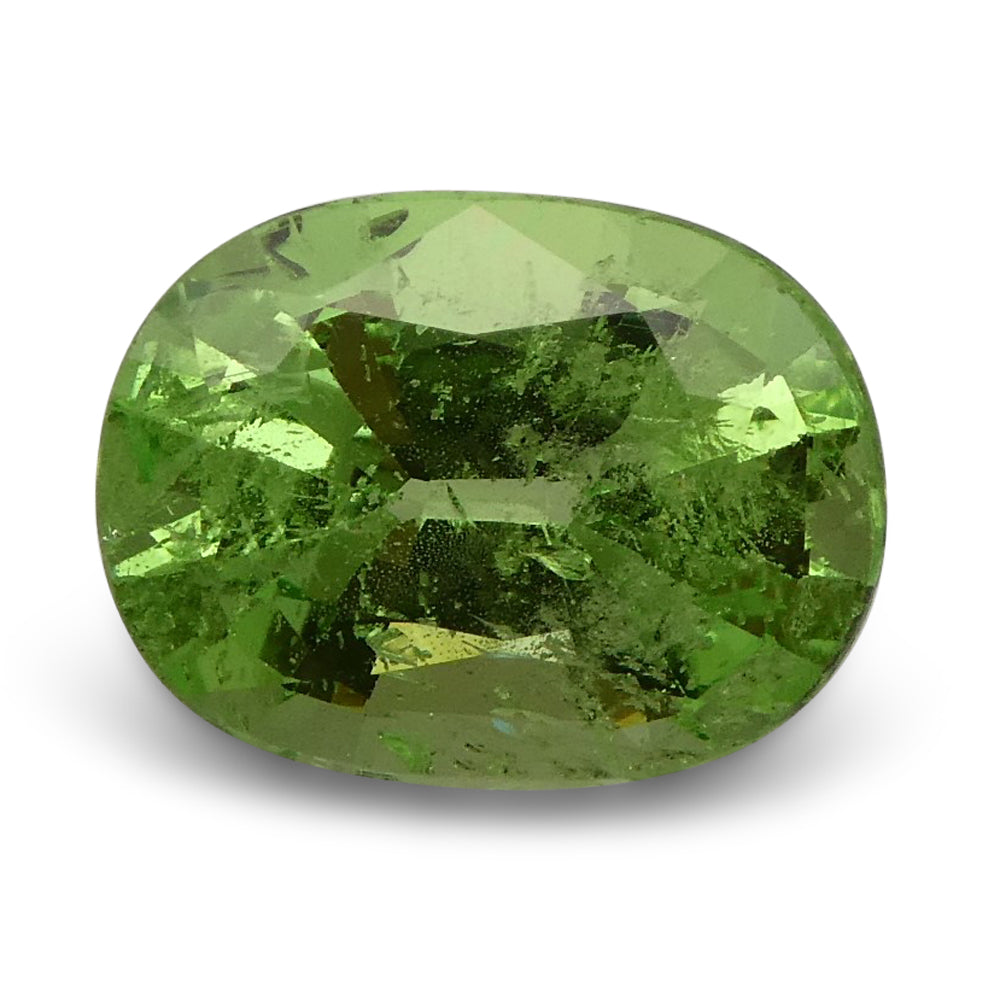 2.56ct Oval Apple Green Grossular Garnet