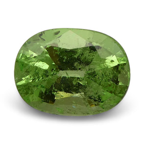 2.56 ct Oval Green Grossularite / Tsavorite Garnet - Skyjems Wholesale Gemstones