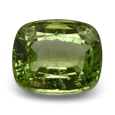Tsavorite Garnet 2.53 cts 8.51x7.13x4.37mm Cushion Slightly Yellowish Green  $460