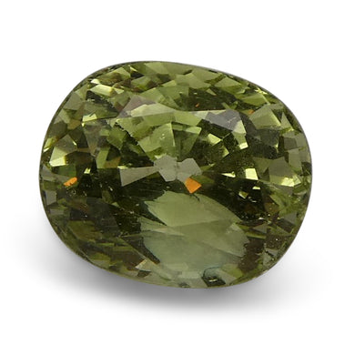 2.15 ct Oval Green Grossularite / Tsavorite Garnet - Skyjems Wholesale Gemstones