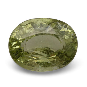 4.21 ct Oval Green Grossularite / Tsavorite Garnet - Skyjems Wholesale Gemstones