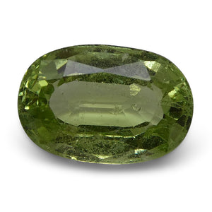 3.17 ct Oval Green Grossularite / Tsavorite Garnet - Skyjems Wholesale Gemstones