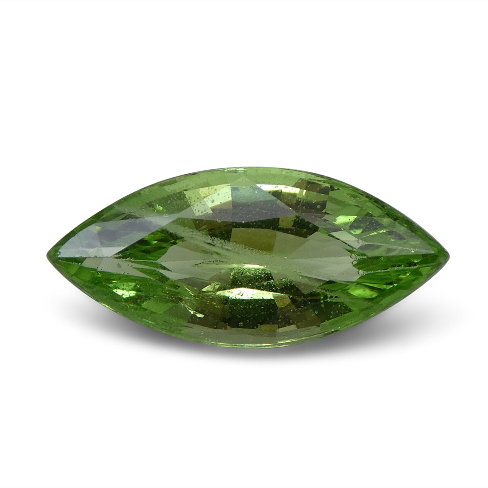 3.08ct Marquise Apple Green Grossular Garnet
