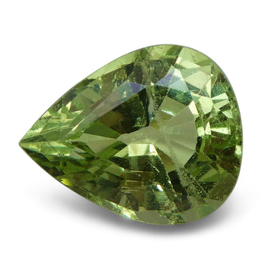 Tsavorite Garnet 3.03 cts 10.01x8.07x5.34mm Pear Slightly Yellowish Green  $240