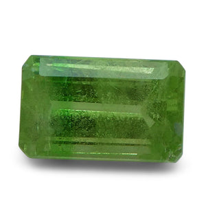 Tsavorite Garnet 3.05 cts 9.40x5.88x4.92mm Baguette Slightly Yellowish Green  $240