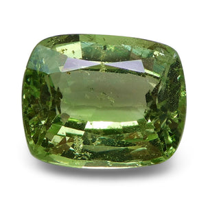 Tsavorite Garnet 2.22 cts 8.32x6.80x4.15mm Cushion Slightly Yellowish Green  $180
