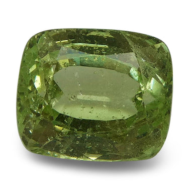 Tsavorite Garnet 3.33 cts 8.39x7.20x5.50mm Cushion Slightly Yellowish Green  $270