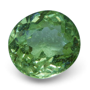 Tsavorite Garnet 2.94 cts 8.57x8.03x5.33mm Square Slightly Yellowish Green  $240