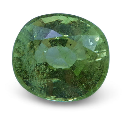 3.00 ct Cushion Green Grossularite / Tsavorite Garnet - Skyjems Wholesale Gemstones