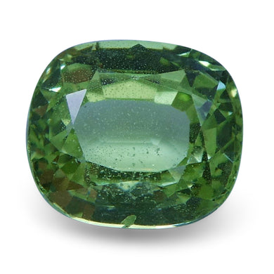Tsavorite Garnet 2.01 cts 7.37x6.45x4.41mm Cushion Slightly Yellowish Green  $160