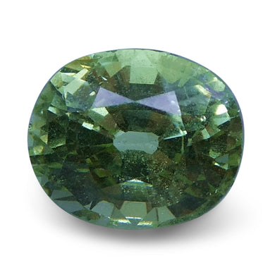 Tsavorite Garnet 2.05 cts 7.71x6.57x5.18mm Cushion Slightly Yellowish Green  $160